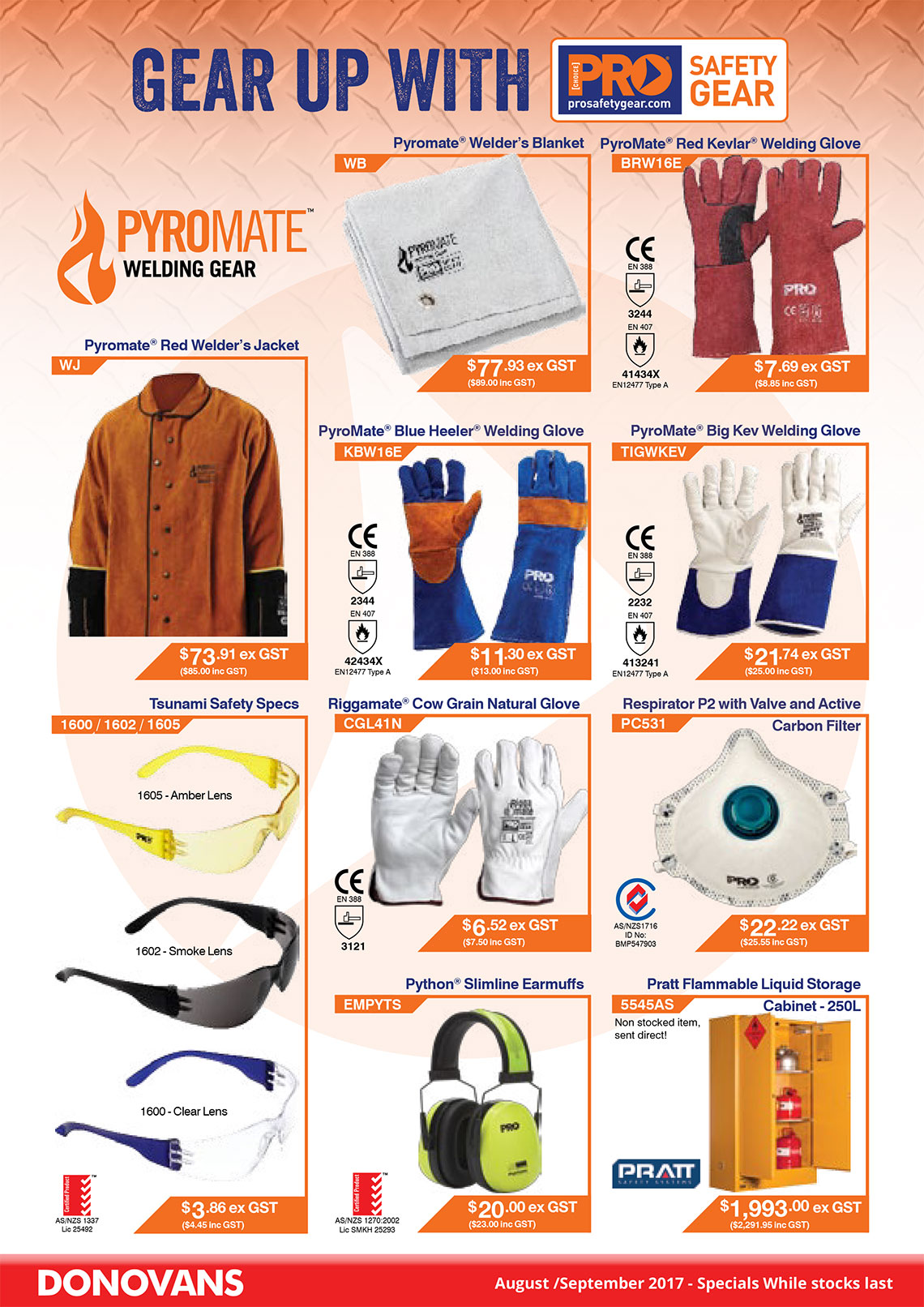 Pyromate specials August/September